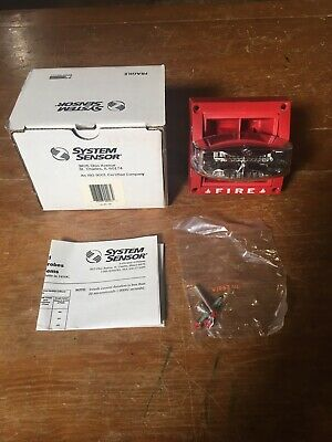 Qty Brand New System Sensor Fire Alarm Horn Strobe Model Mass241575ada