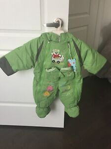 Snowsuit with mittens 6-12 months NEW with tags