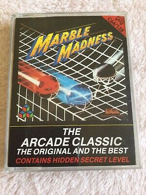 Marble Madness Commodore 64 Cassette Game EA Ariolasoft