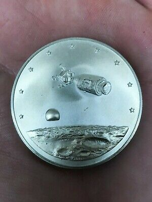 Famous Flights Apollo 13 April 14 1970 Lovell Haise Swigert .999 Silver Coin 161
