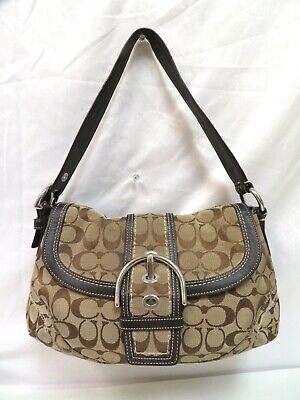 Coach #10297 Soho Signature Flap Shoulder Bag - Brown Soho Signature Flap