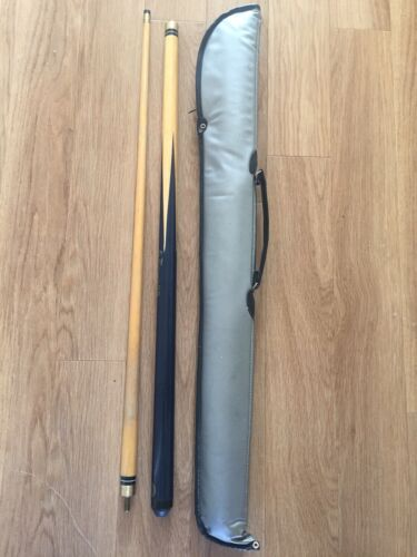 BCE custom cues 'jimmy white' 2 piece snooker/pool cue and case