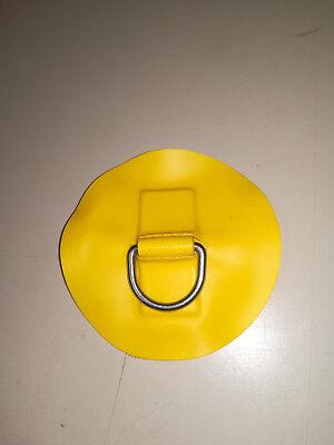 D- Ring Edelstahl für Schlauchboote in Gelb