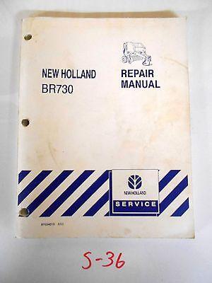 New Holland Br730 Round Baler Repair Service Manual 87034013 603