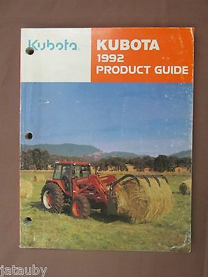 1992 Kubota Product Guide Catalog Tractor Farm Hay Cover Complete 212 Pages