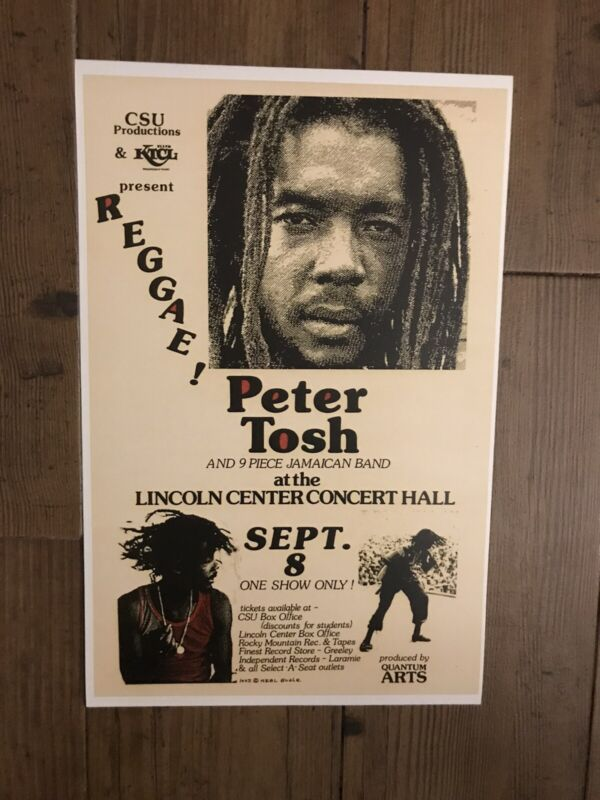 Peter Tosh 1981 Lincoln Center Concert Hall Poster