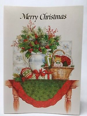 LOT OF 19 VINTAGE BEACON HILL CHRISTMAS GREETING CARDS UNUSED WITH RED ENVELOPES