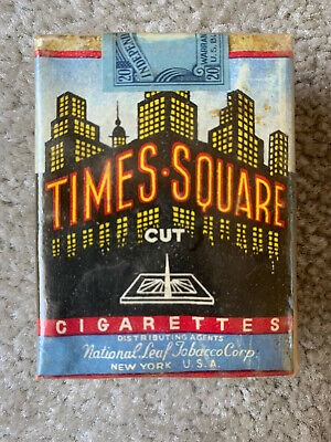 VINTAGE / COLLECTABLE 1934 TIMES SQUARE CIGARETTE PACKET FREE SHIPPING