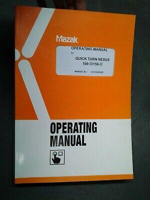 Mazak Operating Manual For Quick Turn Nexus 100 Ii 150 Ii  Ms-253