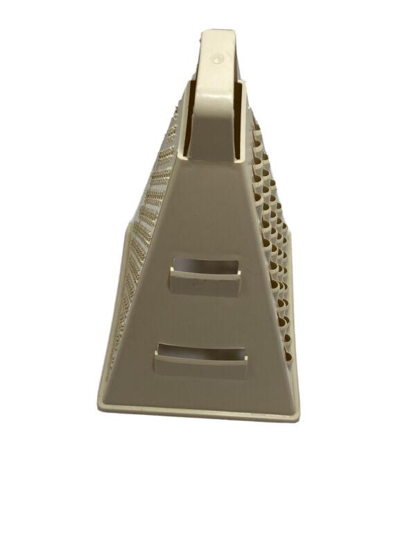 Triangular Nacho Cheese Grater Ivory Plastic/Melamine Unmarked