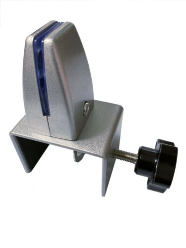 """Sneeze Guard Support Clamp Bracket for 7/8"""" to 2-1/8"""" Tabletop or Cubicle Panel"""