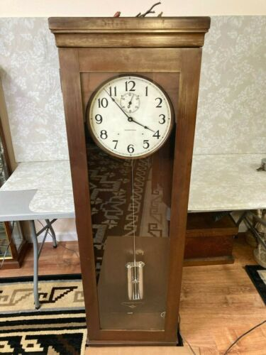 International Business Machines Master Clock Beautiful INVAR Pendulum Wood Case