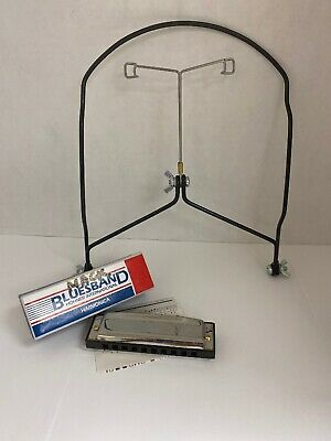 For Almost Any Harp Stagg Model HAH-800 Hands Free Chrome Harmonica Holder