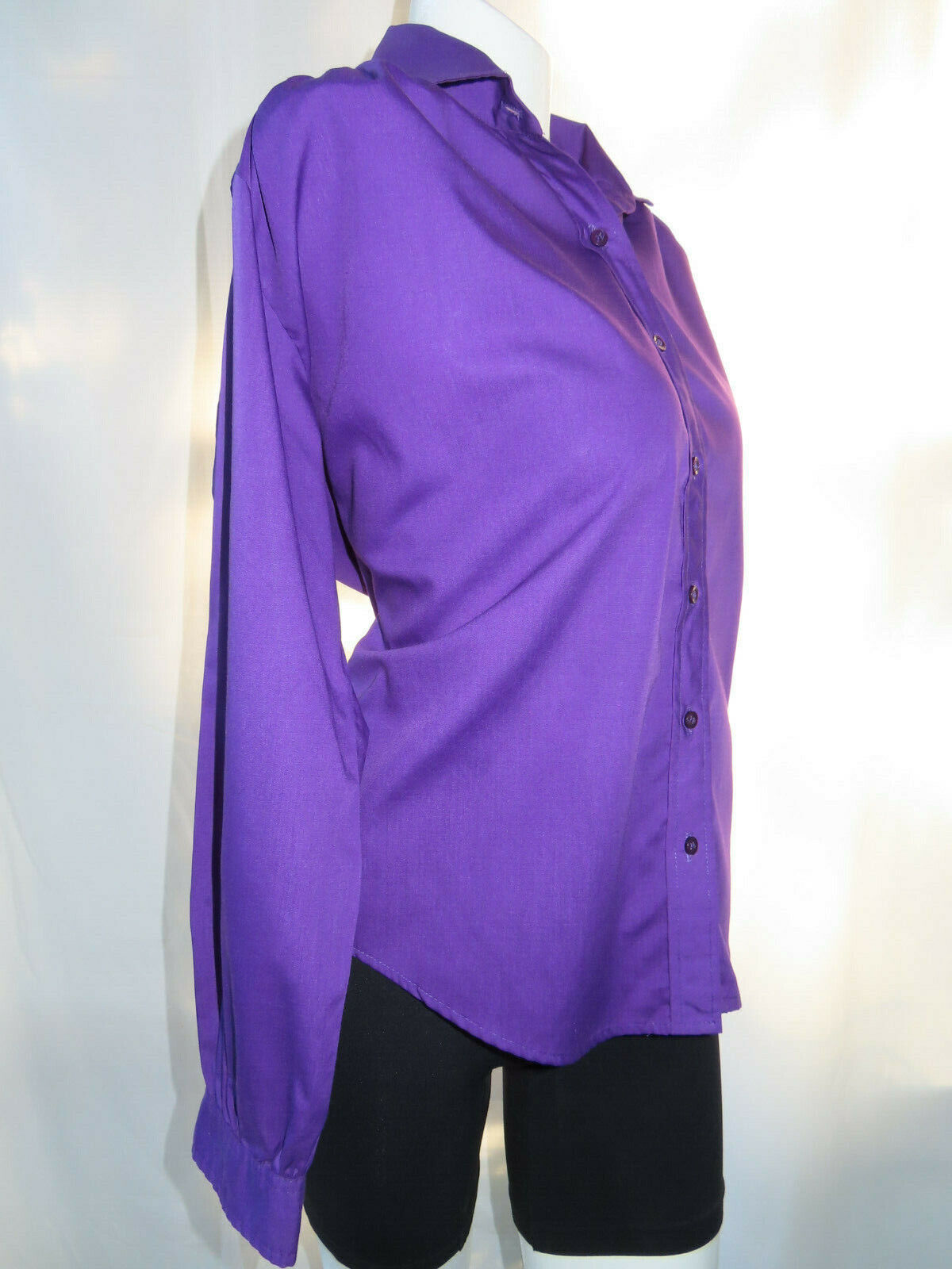 Cat Cay Women's Shirt Button Down Purple Vintage Blouse Size 12.