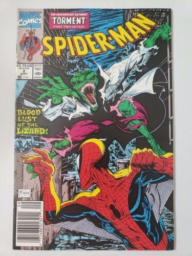 "SPIDER-MAN #2 (1990) MARVEL COMICS ""TORMENT"" Pt 2 TODD McFARLANES! NEWSSTAND!"