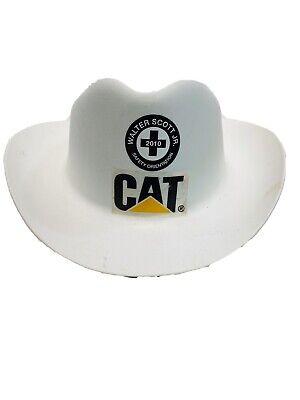 White Cowboy Hat Ansi Osha Compliant B1394 Cat Walter Scott Jr Construction