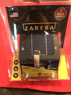 Zareba Esp2m-z 2-mile Solar Low Impedance Electric Fence Charger For Food Plot