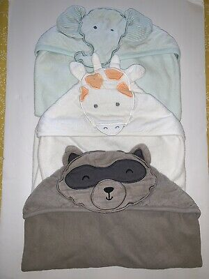 Carters Hooded Towels For Boy Lot Of 3](Towels For Boys)