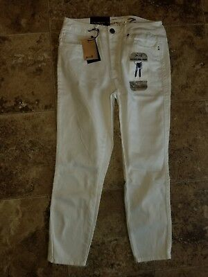 NWT Womens Seven High Rise Ankle Skinny Pants Jeans Crop White Dove