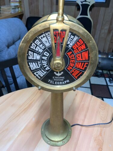 Antique Brass Engine Room Telegraph Chadburns from Early 1900s
