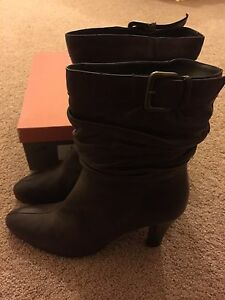 Rebeca Sanver Women's High Heel Leather Boots - Brand New Sydney City Inner Sydney Preview