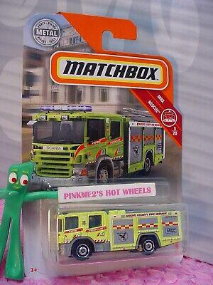 Usado, 2019 Matchbox #46 SCANIA P 360 ☆Yellow Truck; ARROYO FIRE BRIGADE ☆RESCUE☆ comprar usado  Enviando para Brazil