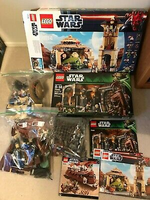 Lego Star Wars Set Lot Featuring Jabba the Hut 9516, 6120, 75005 Complete w/box