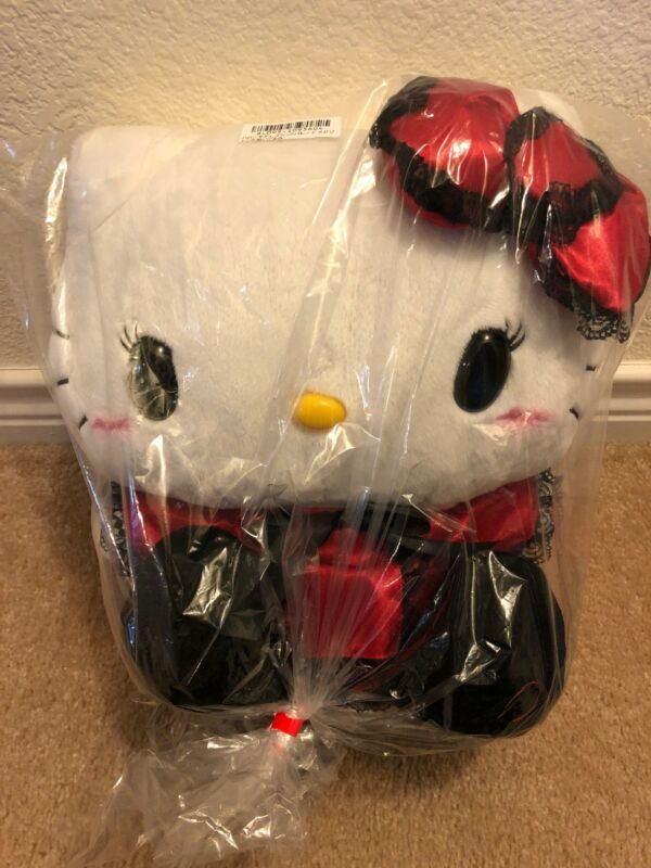 "Hello Kitty LARGE 14-15"" Gothic Red Dress Plush 2018 JAPAN Import"
