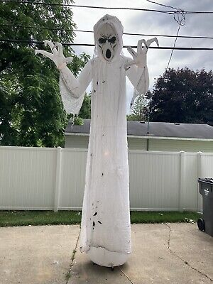 Giant 12' LED Frightening Halloween Air Blown Inflatable Ghost