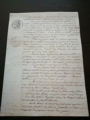 MANUSKRIPT AUS DEM JAHR 1840 AUF PAPIER NOTAR BRIEF FRANKREICH