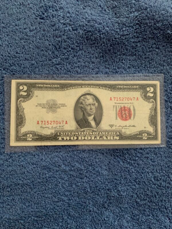 1953-A Red Seal $2.00 United States Note -  Random