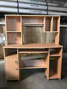 Office desk - shelves, pull out drawer and key locked cupboard Little Bay Eastern Suburbs Preview