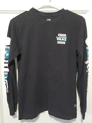 Youth Boy's Vans Long Sleeve Shirt Size Small Black Skateboard