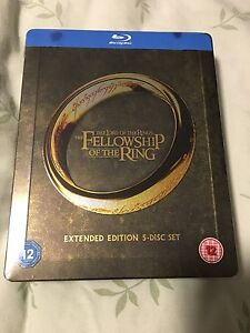 The Lord of the Rings Fellowship of the Rings Blu-ray Steelbook