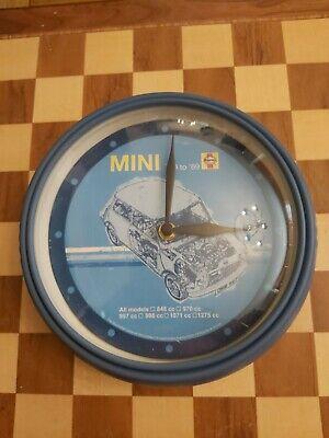 Vintage 1990s Promotional Advertising Haynes Mini Blue Wall Clock '59 - '69 24cm