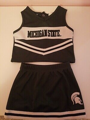 Ncaa Michigan State Spartans Girls 12m infant toddler Green Two-Piece Cheer Set