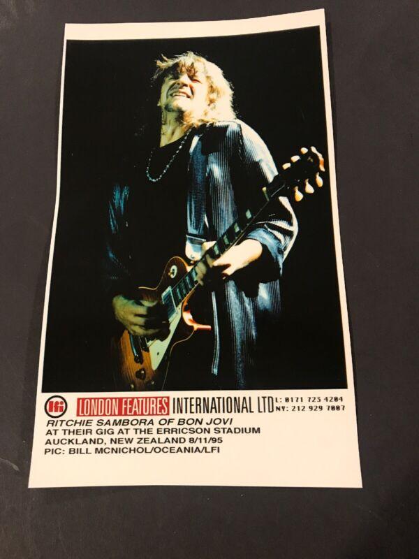 "Richie Sambora  Bon Jovi  5 X 8 1/4"" Vintage Original Color Photo 1995"