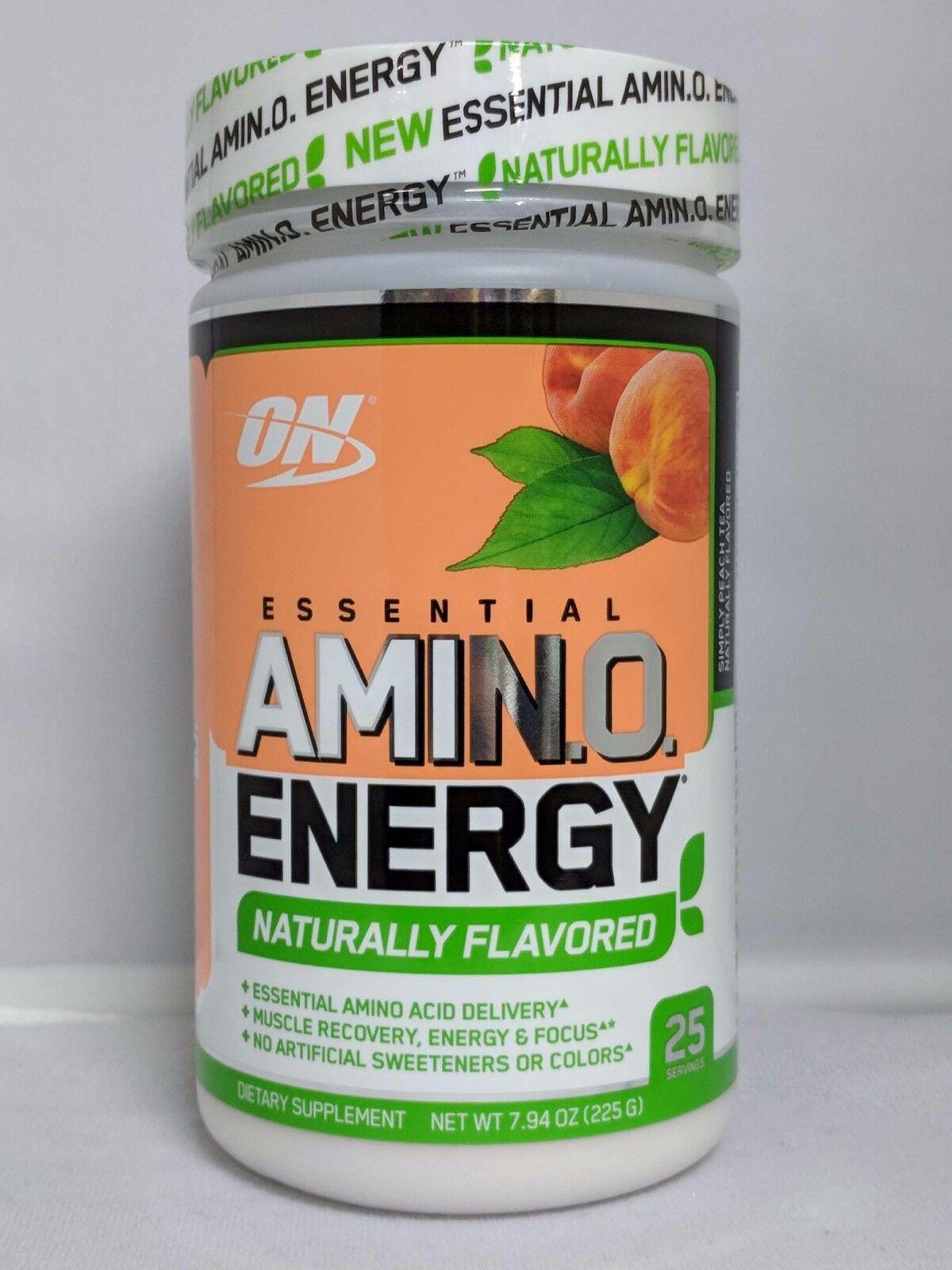 Optimum Nutrition Amino Energy Peach Tea 25 Servings 7.9oz N