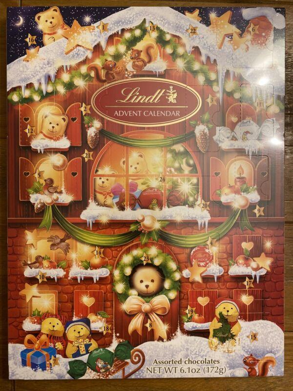 2020 Advent Calendar Lindt Chocolates Bear Christmas Holiday FAST SHIPPING NIB!!