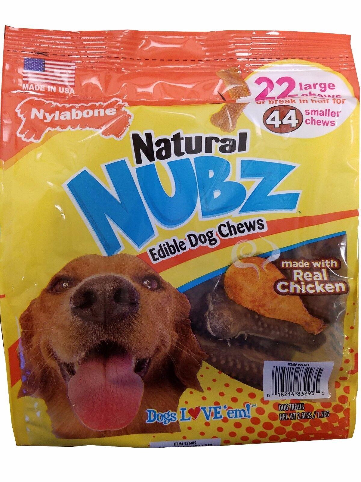 Nylabone Natural Nubz Edible Dog Chews 22ct.