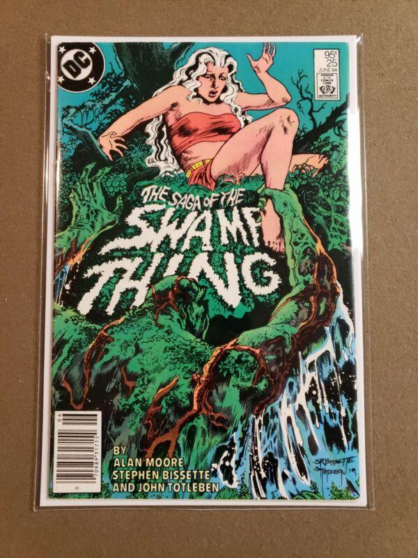 Swamp Thing (Saga of) #25 , Cameo John Constantine, HTF .95 cent CPV Newsstand