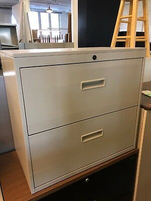 2 Drawer Lateral Size File Cabinet By Herman Miller Wlockkey 30w In Putty