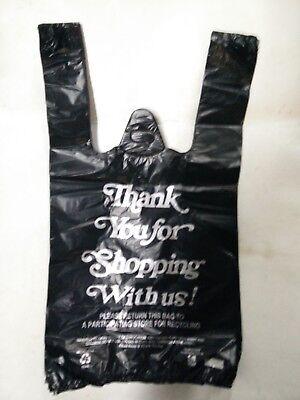 Black Thank You Plastic T-shirt Bags 110 Retail Shopping Bags 8 X 4 X 15