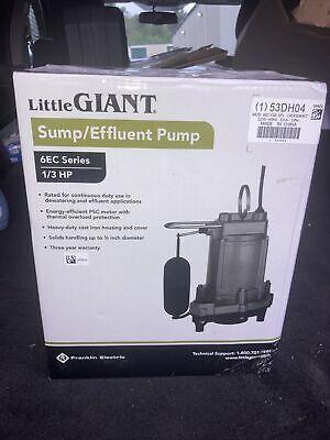 Little Giant 6ec-cia-sfs - 13 Hp Cast Iron Submersible Pump W Vertical Float