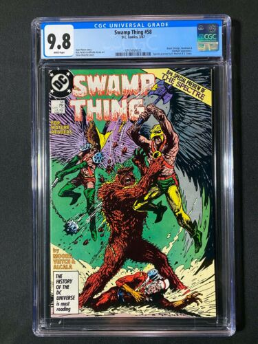 Swamp Thing #58 CGC 9.8 (1987) - Hawkman and Hawkgirl app