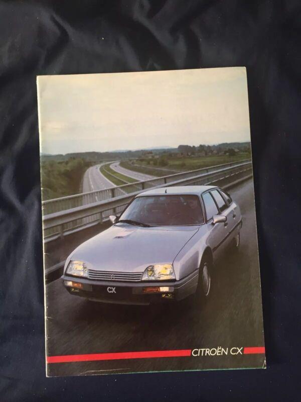 1986 Citroen CX Color Brochure Catalog Prospekt