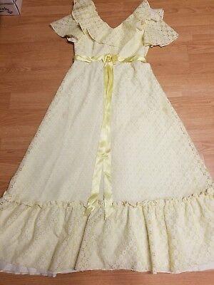 For sale TRUE VINTAGE PRAIRE LACE MAXI BOHO DRESS