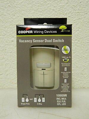 Cooper Infrared Vacancy Sensor Dual Switch 1000 Sq. Ft. Coverage Vs310r-la