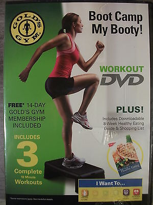 Golds Gym Boot Camp My Booty   Dvd  2010  A Full Workout For The Glutes New