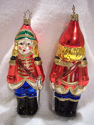 The Littlest Soldier,Old World Christmas,Inge-Glas,Blown Glass,Germany,Retired